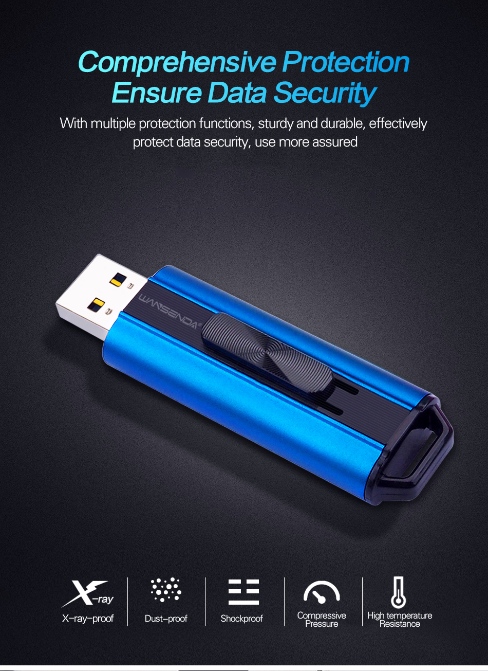 IsMyStore: Wansenda USB Flash Drives High Speed USB 3.0/3.1 Pen drive 1TB 512GB 256GB 128GB 64GB 32GB 16GB Pendrives Creative Memory Stick