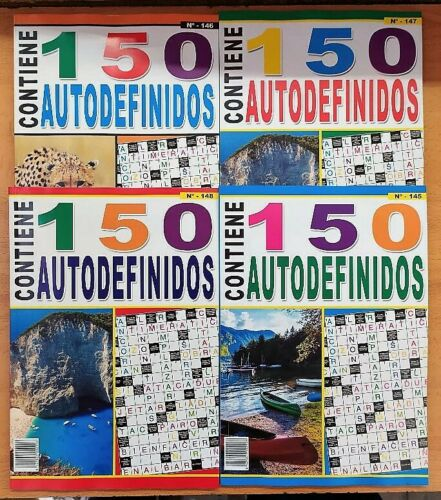AUTODEFINIDOS. (Pack of 8 volumes of 100 pages) with gift pen to enjoy self-defined co-free time.