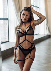 Neck to waist and Leg Linked Sexy Harness