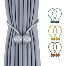2PCs New Magnetic Pearl Ball Curtain Tiebacks Tie Backs Holdbacks Buckle Clips Tieback Decorative Accessories