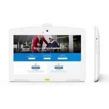 13.3 inç beyaz Android POE tablet için ideal hastane interaktif ekran, self servis kiosk FHD IPS 10 nokta dokunmatik ekran