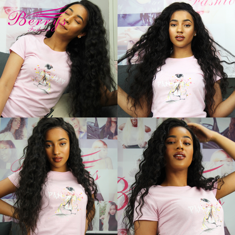 Indian Virgin Wigs Pre-Plucked Hairline Transparent Lace Full Lace Wigs With Baby Hair 150% 180% 200% Density Loose Wave Natural Color2