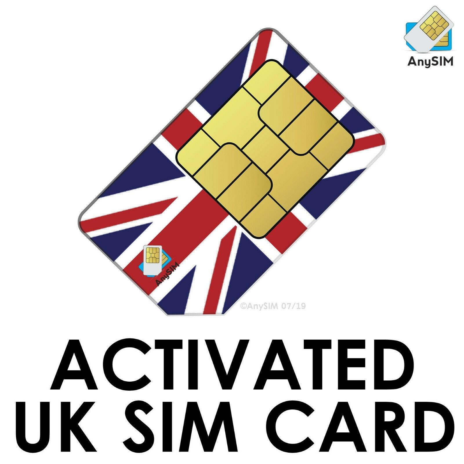 SIM-карта Великобритании, предварительно активированный прием, бесплатные смс по всему миру, анонимная Настройка не требуется, путешествия п...