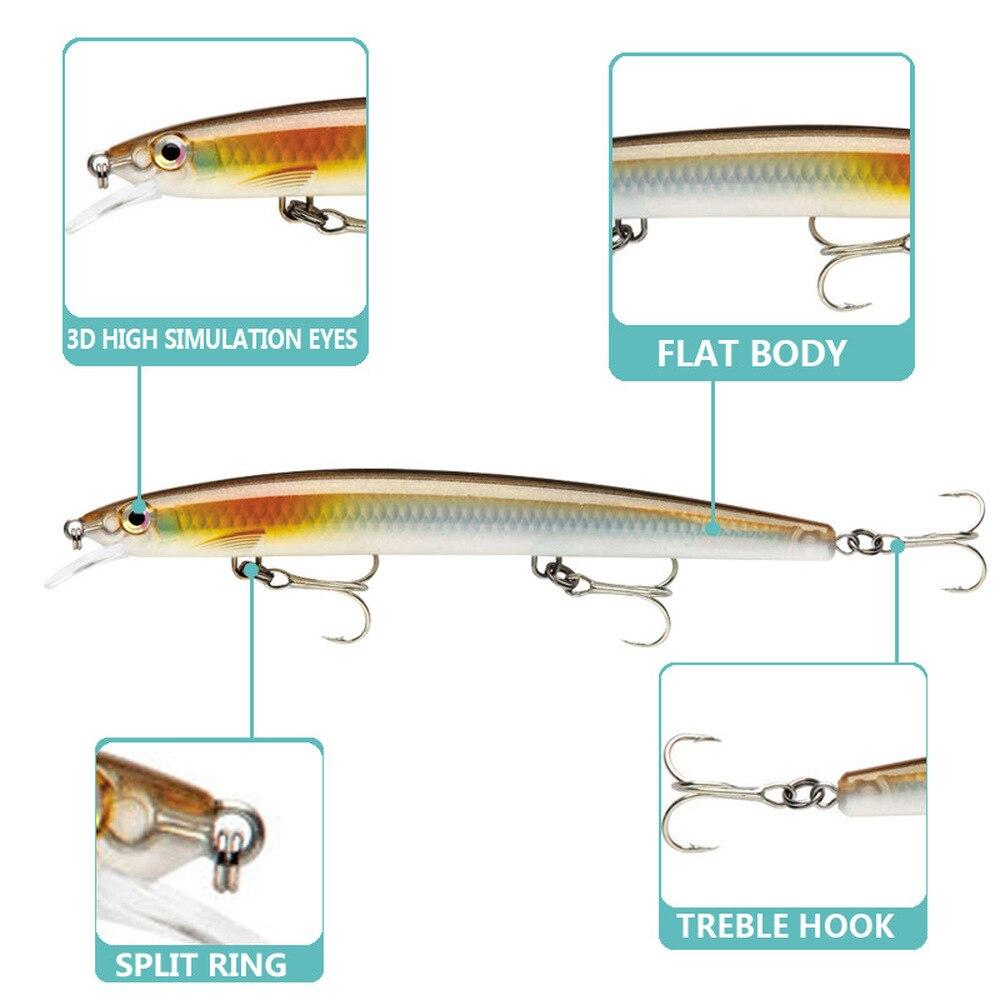 5 шт 13 см 15 г Гольян бас большая рыба Рыболовная Тонущая приманка