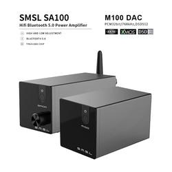 SMSL M100 DAC + SA100 Amp HiFI Stereo Bluetooth Amplifier USB DAC AK4452 XMOS XU208  DSD512 Decoder