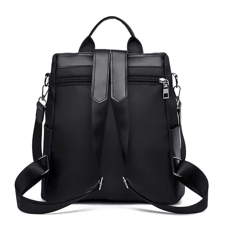 2019 delle NUOVE donne Anti-furto zaino sacchetto di Scuola di modo semplice di colore solido del panno di Oxford del sacchetto di spalla