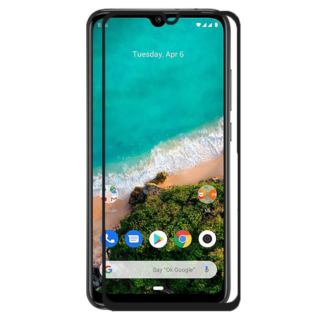 Tempered Glass LCD Cover Screen Protector Vidrio 2D Black Full Covers 100% LCD Touch For For Xiaomi Mi A3
