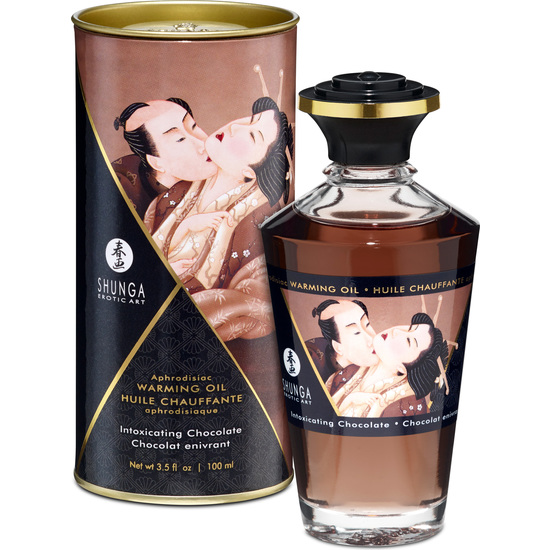 SHUNGA Shunga Oil Heat Effect 100 Ml Chocolate DISCREET SHIPPING Material Antibacteirano