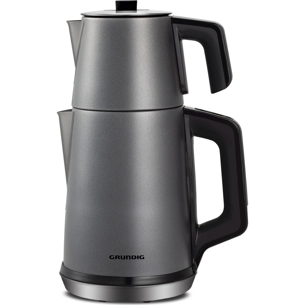 Grundig TM 6860 Steel Electric Teapot | Turkish Tea | Tea Machine | Water Heater | Teapot | Hot Tea