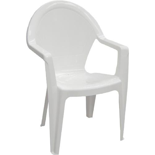 Armchair CLS, Monoblock, Stackable, White