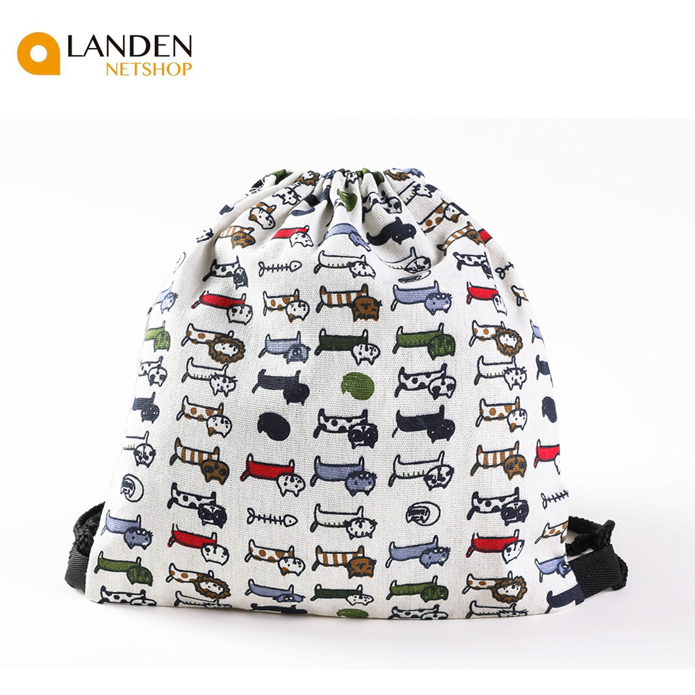 String Backpack's Sack Type Canvas Backpack Style Casual. For Girls Woman LANDEN NETSHOP