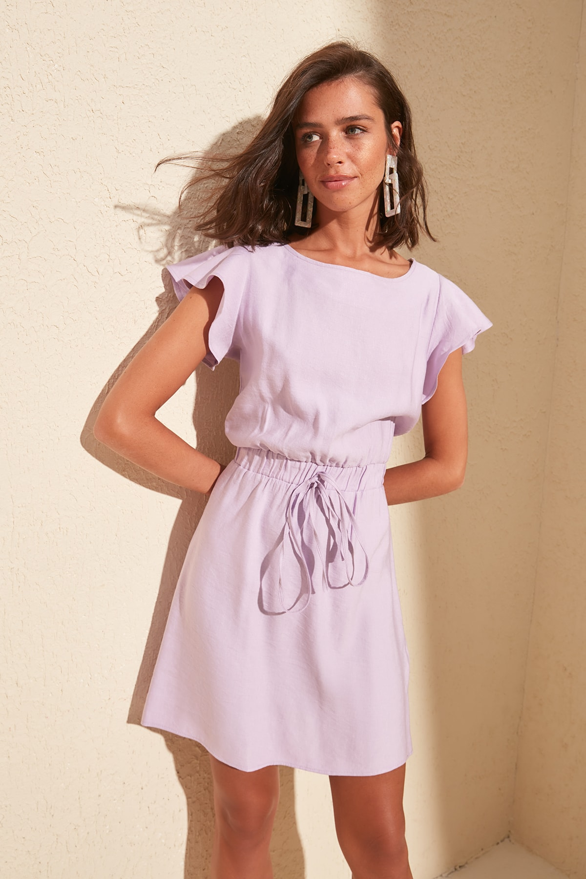 Trendyol Handles Flounces Dress TWOSS20EL0973