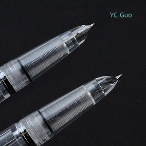 Image 4 - 2020 דגם אגף סונג 601 Vacumatic מזרקת עט בוכנה סוג דיו עט כסף כובע מכתבים משרד בית ספר אספקת מתנה