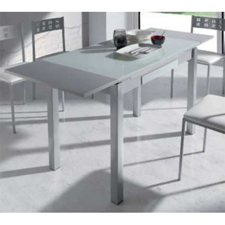 Extendable table dining room or kitchen with drawer White|End Tables| |  - title=