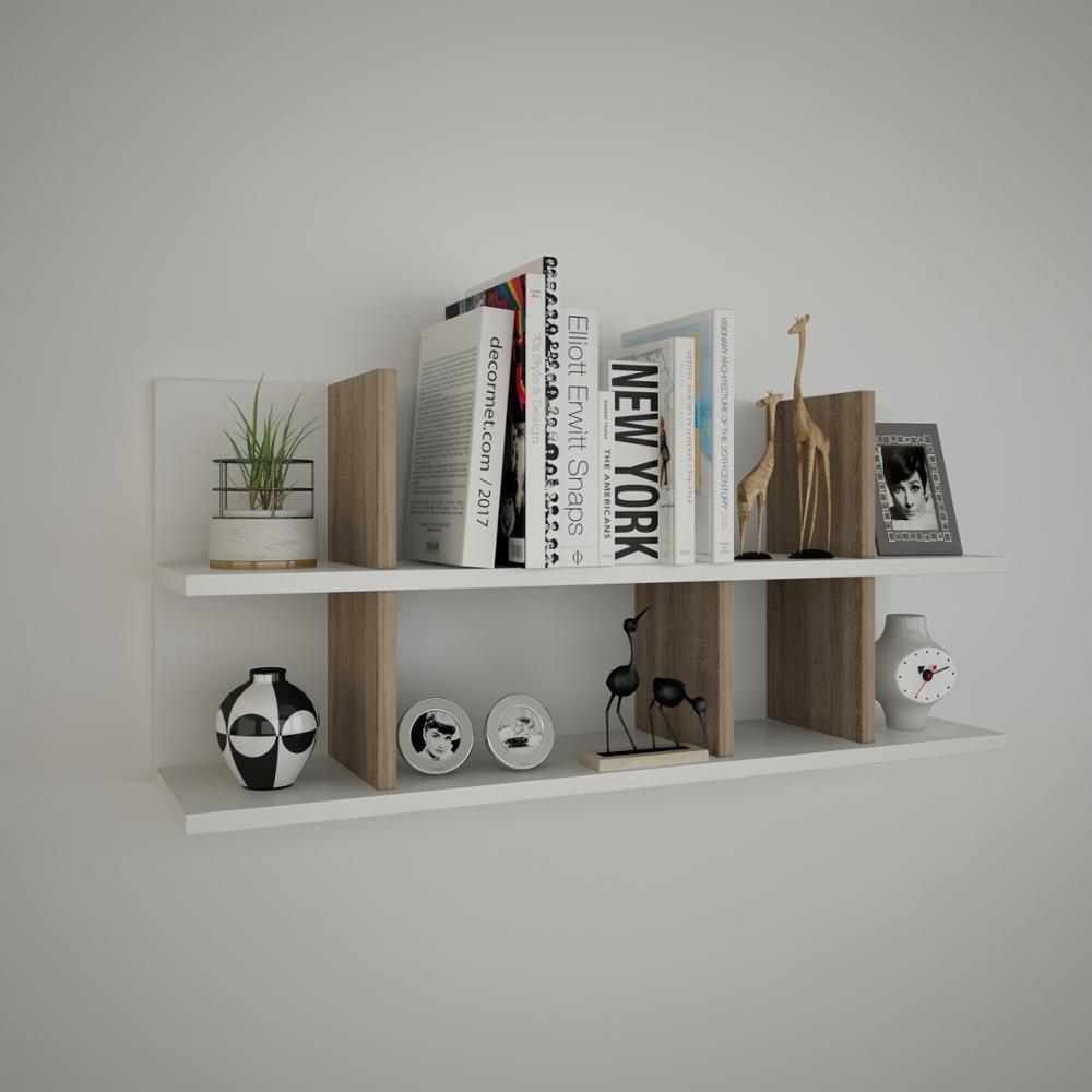 ชั้นวาง & ชั้นวาง MADE IN ตุรกีโมเดิร์นชั้นวางของ 3 สีตัวเลือกห้องนั่งเล่นไม้ผู้ถือหนังสือ Organizer ชั...