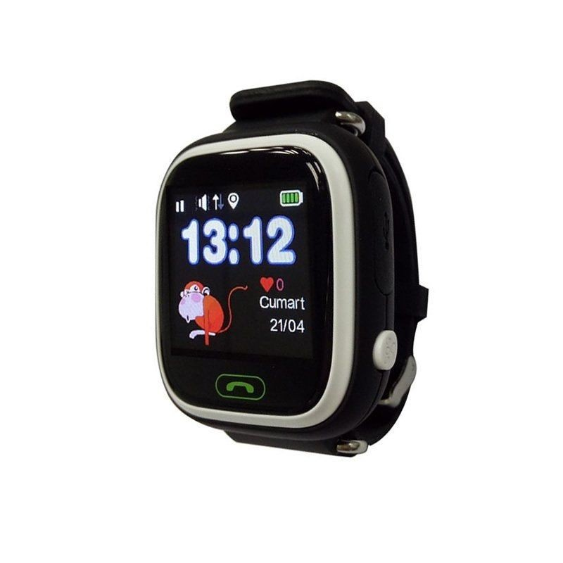 Smart Watch With Locator For Children Leotec Kids Way Black-lcd Touch Screen-gps-microsim-button Sos/call