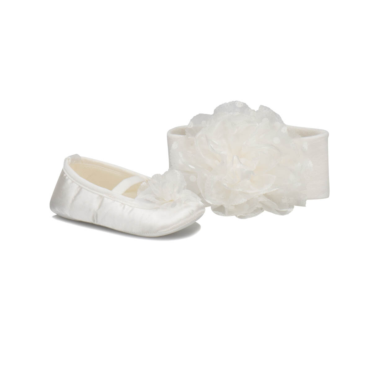 FLO KINDY-1 White Female Child Home Slipper PINKSTEP