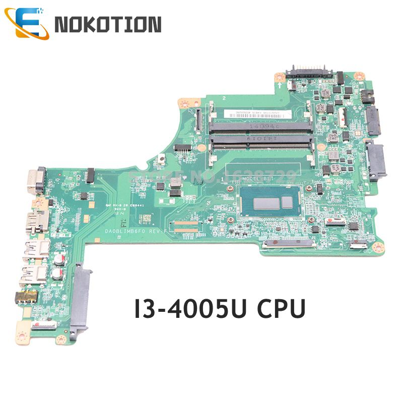 NOKOTION A000296030 DA0BLIMB6F0 MAIN BOARD For Toshiba Satellite L50-B L50D-B Laptop Motherboard SR1EK I3-4005U CPU