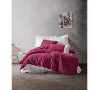 Plain 100 Cotton Quality Bedding Set Double King Queen Bed Duvet Cover Set Lux Modern Romantic Bedsheet Duvet Pilow case