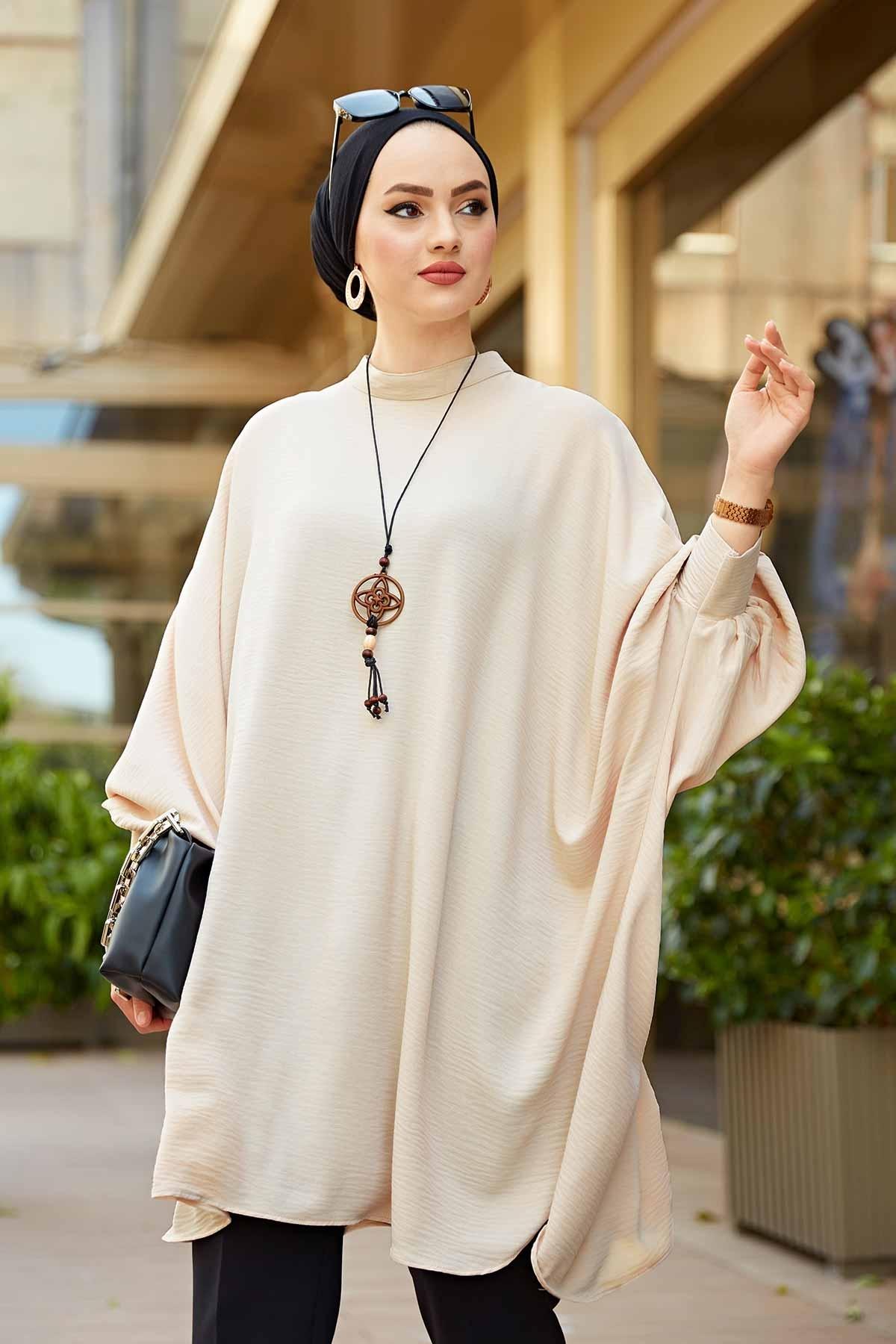 Bat Sleeve Aerobin Tunic Sleeve Elegant Shirt White Black Button Vintage Blouse Turn Down Collar Office Ladies Shirt Female Eid