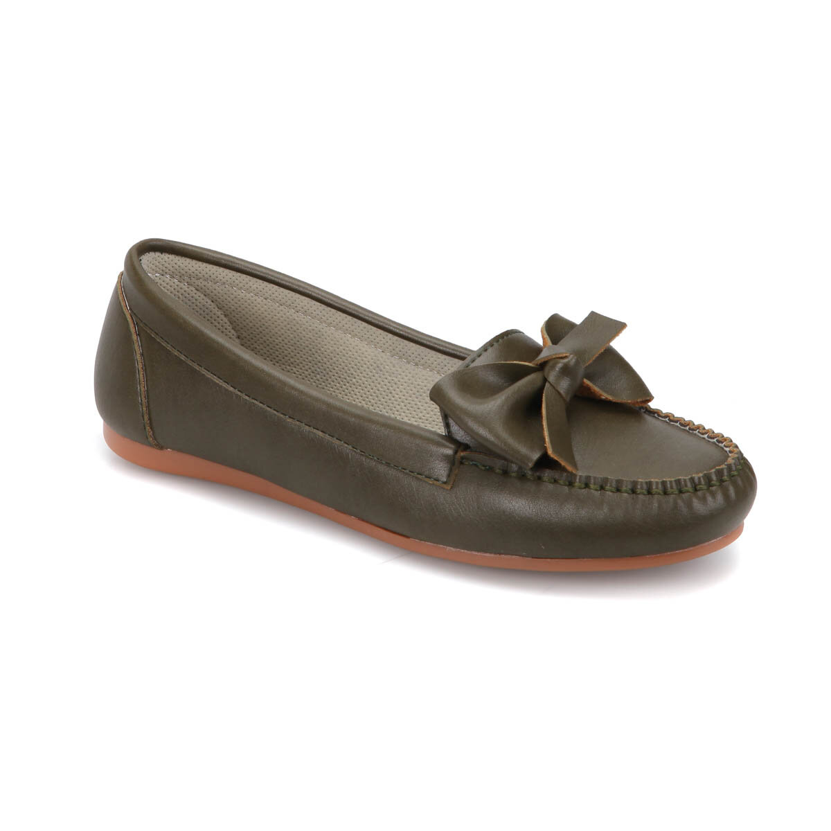 FLO DW17057 Khaki Women Loafer Shoes Miss F