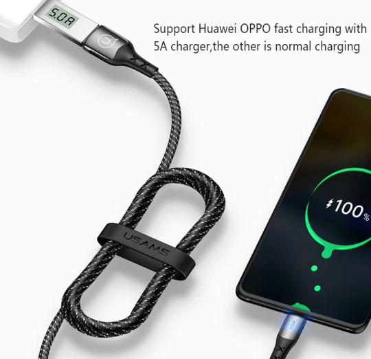 USAMS Fast Charging USB C Cable 5A Quick Charge Type C Cable for Huawei P10 P20 P30 Mate 9 10 20 smart charge Cord Type C Cable|Mobile Phone Cables| |  - AliExpress