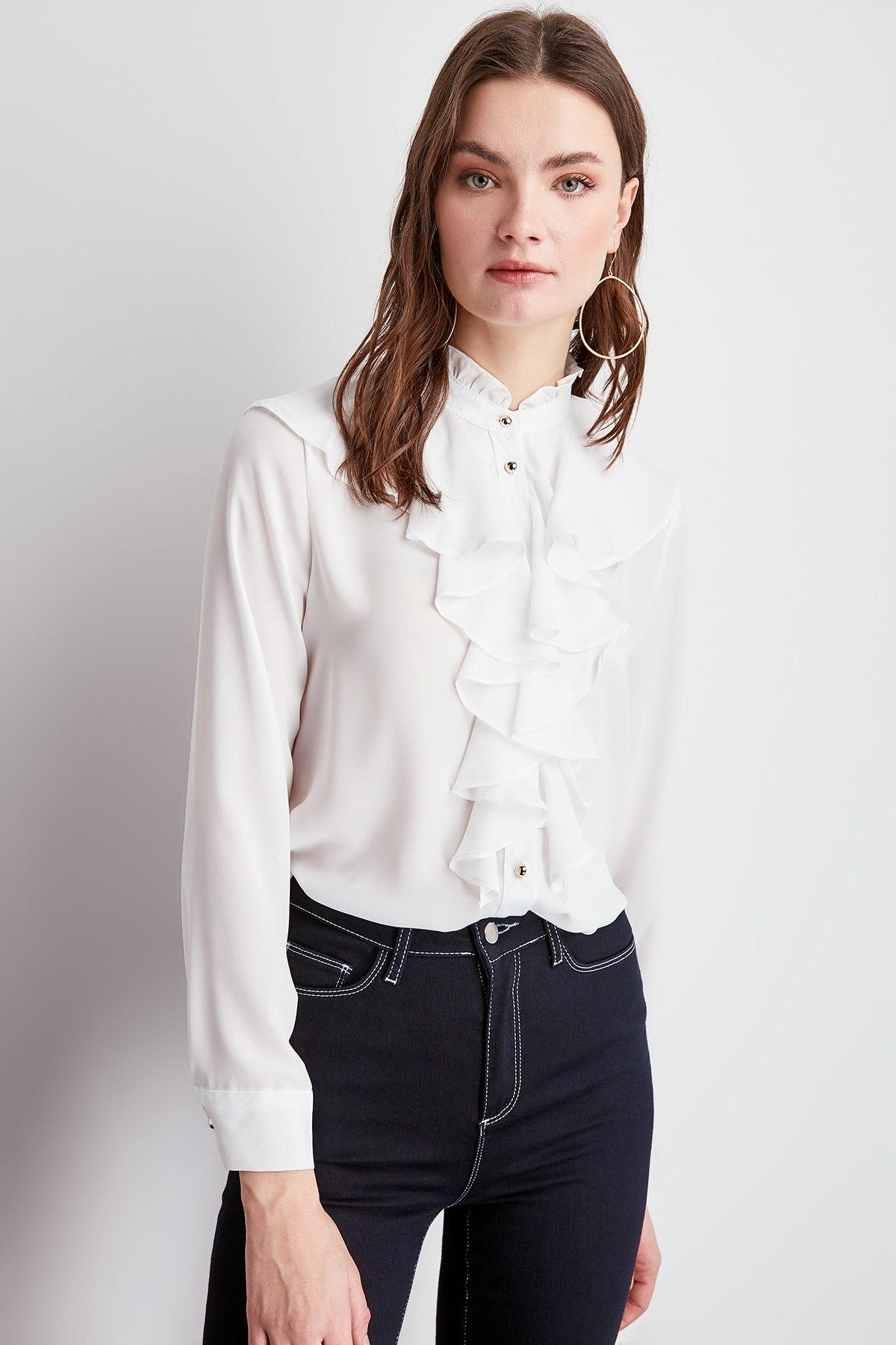 Trendyol Frilly Shirt TWOSS20GO0036