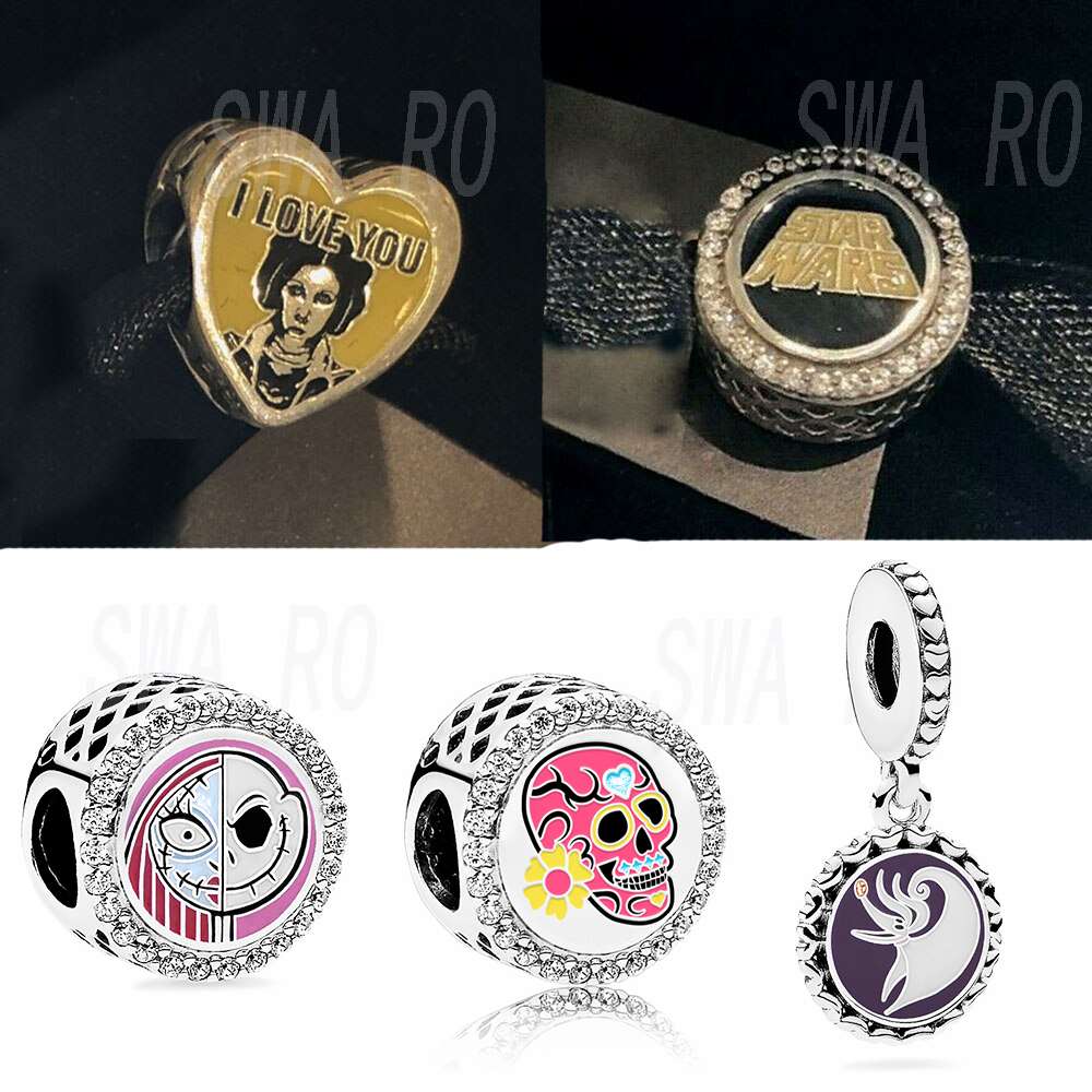 2019 New Disne World Parks Star Wars Galaxy's Edge I Love You I Know Charm Set Day Of The Dead Charm DIY Original Women's Gift