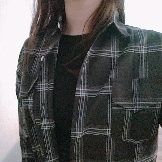 Women Shirts Casual Plaid All Match Loose Long Sleeve Students Daily Bf Ulzzang Single Breasted Womens Korean Style Harajuku photo review