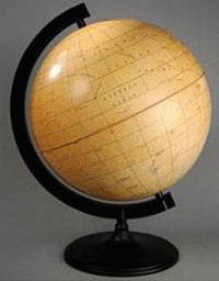 Moon Globe 210mm Diameter With Light