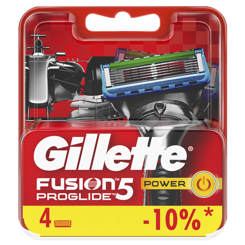 Сменные кассеты Gillette Fusion5 ProGlide Power 4 шт. цена 2017