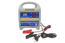 MOLCAR Cargador de batería móvil de 12 Amperios con interruptor 6 a 12 V protección sobrecalentamiento y cortocircuitos