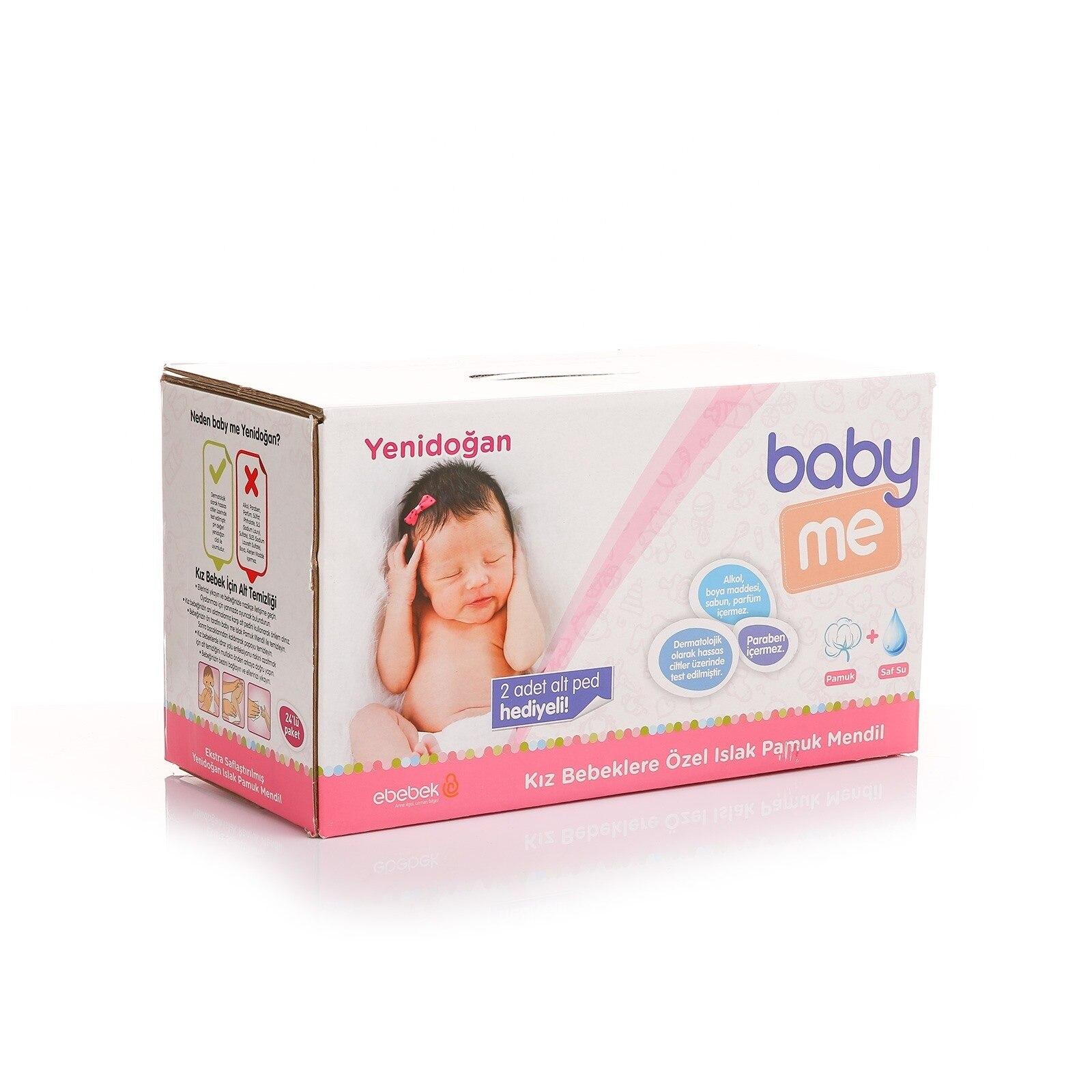 Ebebek Baby&me Newborn Baby Girl Wet Cotton Wipes 24x40 Pcs