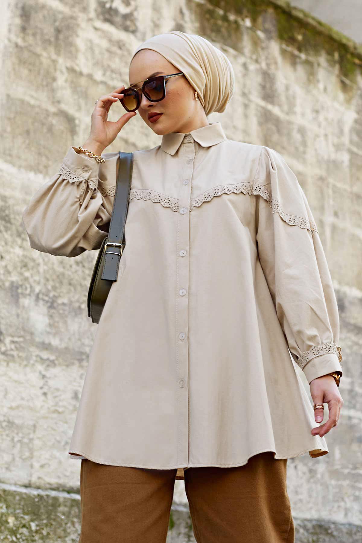 Lace Poplin Shirt Women Blouses Turn down Collar Spring Shirts Plaid All match Batwing sleeve Loose Outwear Harajuku Female