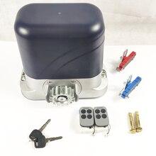 LTM600 Комплект автоматического привода для откатных ворот весом до 600 кг с блоком управления и 2 пультами. Металлические валы и шестерни