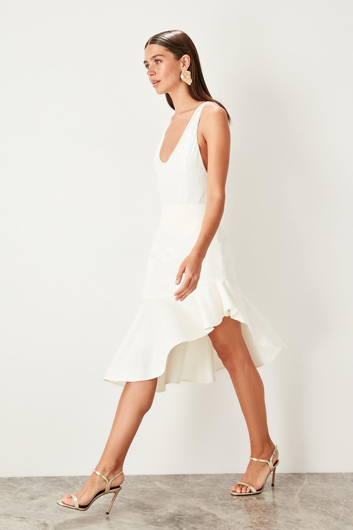 Trendyol Flounces Skirt TPRSS19DE0051