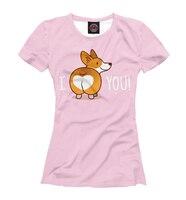 Women T shirt Corgi