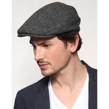 Czapka męska w jodełkę czapka z wełny londyńskiej ciemnoszara-czapka męska-odzież męska-akcesoria męskie tanie tanio TR (pochodzenie) Octan Dla dorosłych Nakrycia głowy