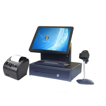 High quality Point of sales POS system for restaurants 15 inch touch screen black ComPOSxb TFT j1900 fanless Cash Register