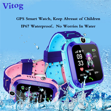VITOG New Waterproof Q12 Smart Watch Multifunctional Childrens Electronic with GPS Kids Gift Phone for IOS  Android