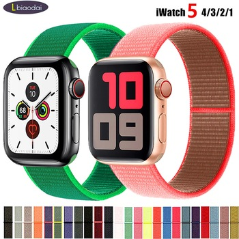 sport nylon fabric watch band for apple watch 38mm 42mm strap soft watch loop for iwatch 5 4 3 2 1 watchband for iwatch bracelet Band For Apple Watch Series 5 4 3 2 1 38MM 42MM watchband Breathable Nylon Strap Sport Loop for iwatch Bracelet 40MM 44MM