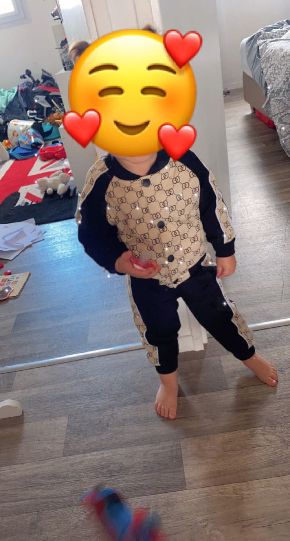2021 spring Kid Boy Girl Clothing Brand Casual Tracksuit Zip jacket sportswear Letter Sets Infant Clothes Baby Pants 1 2 3 4 5Y photo review