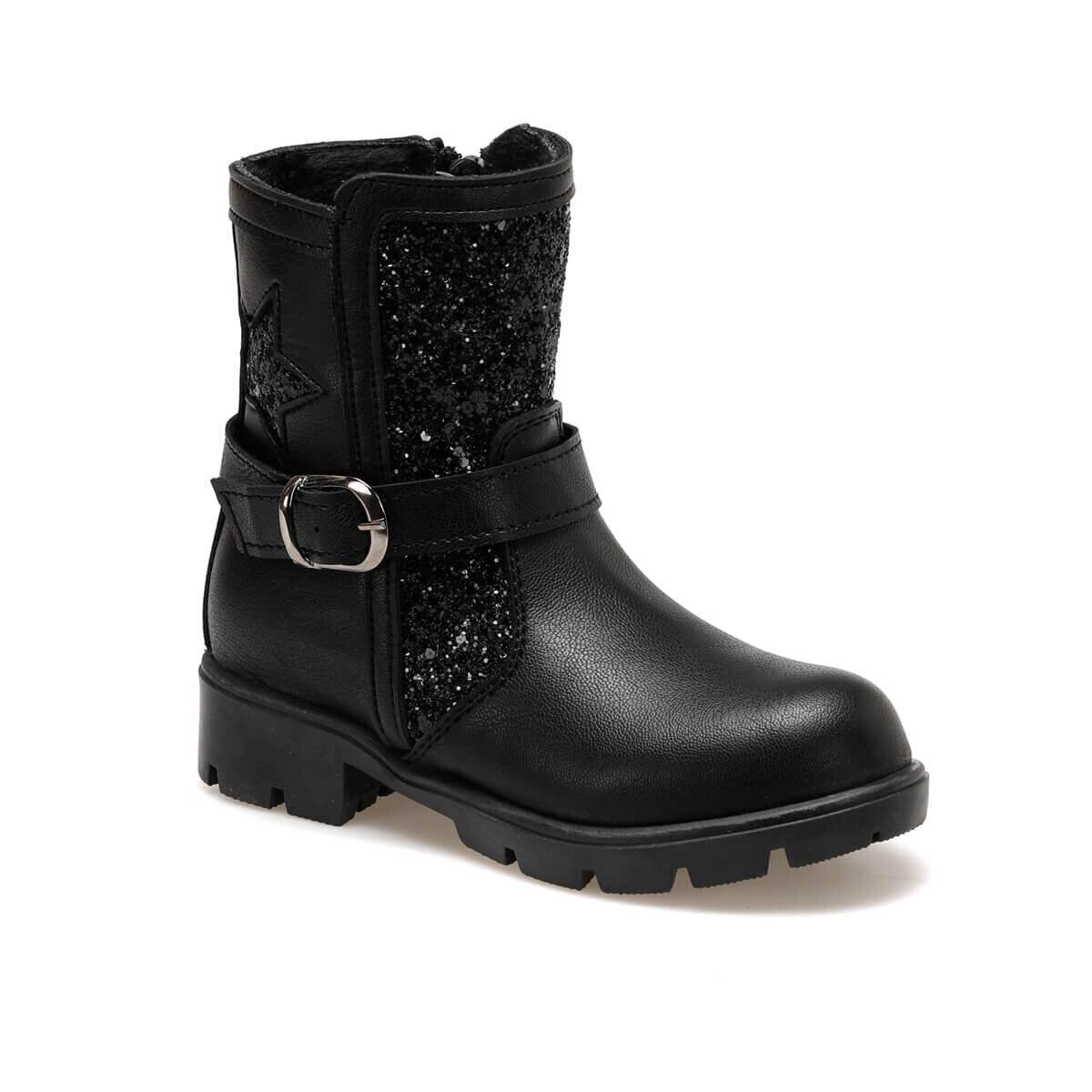 FLO 92. ETINI-1.P Black Female Child Boots PINKSTEP
