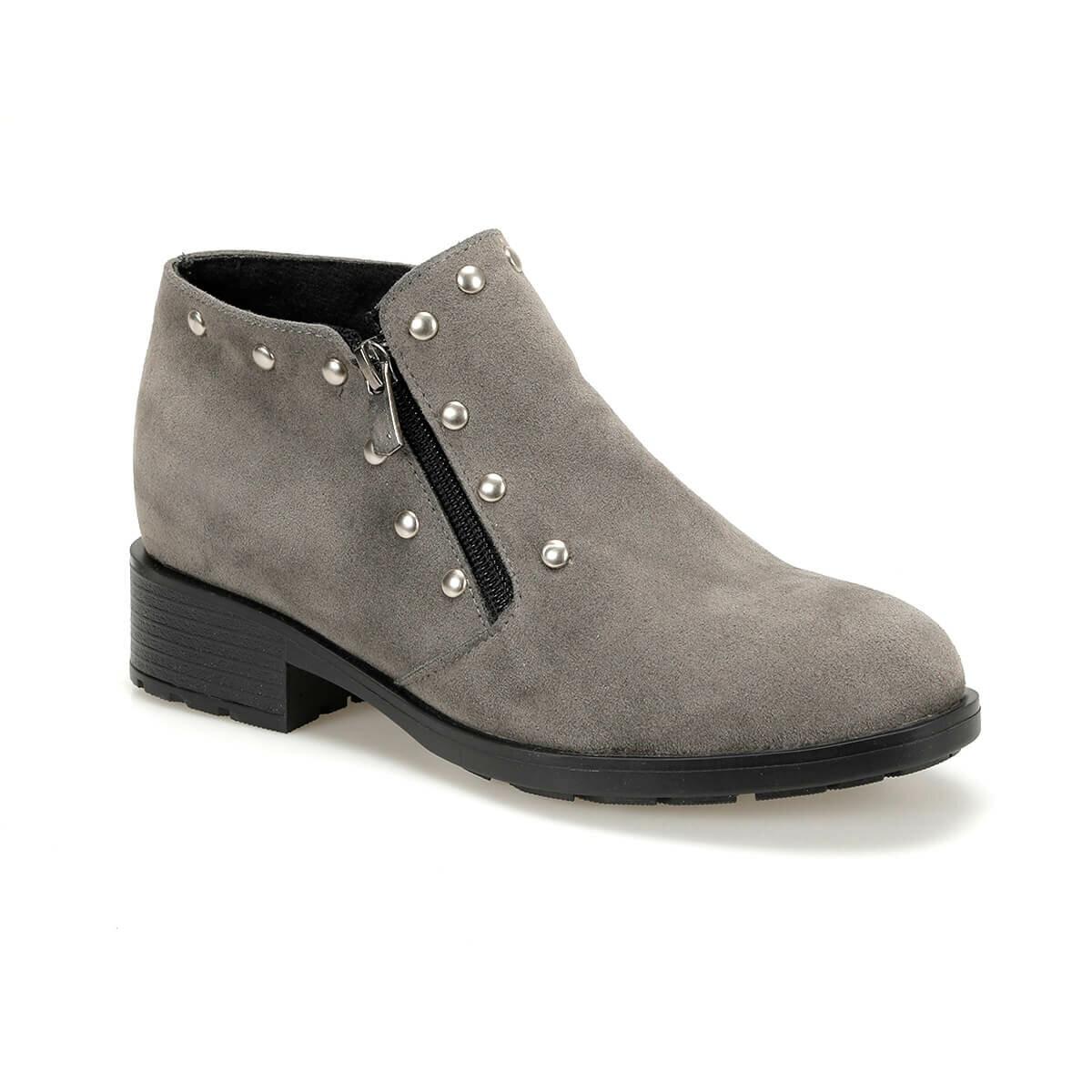 فلو PISIR77Z جلد رمادي أحذية نسائية BUTIGO