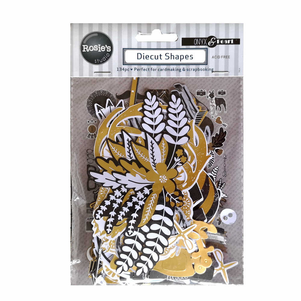 CRZCrafter Paper Diecuts Shapes 134pcs Printed Foil Design For Scrapbooking Cardmaking Journal Embellishments
