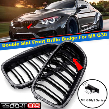 Front Griil Badge For After Market Original Double Slat Grille For BM W G30 M5 Emblem M Color Grill image