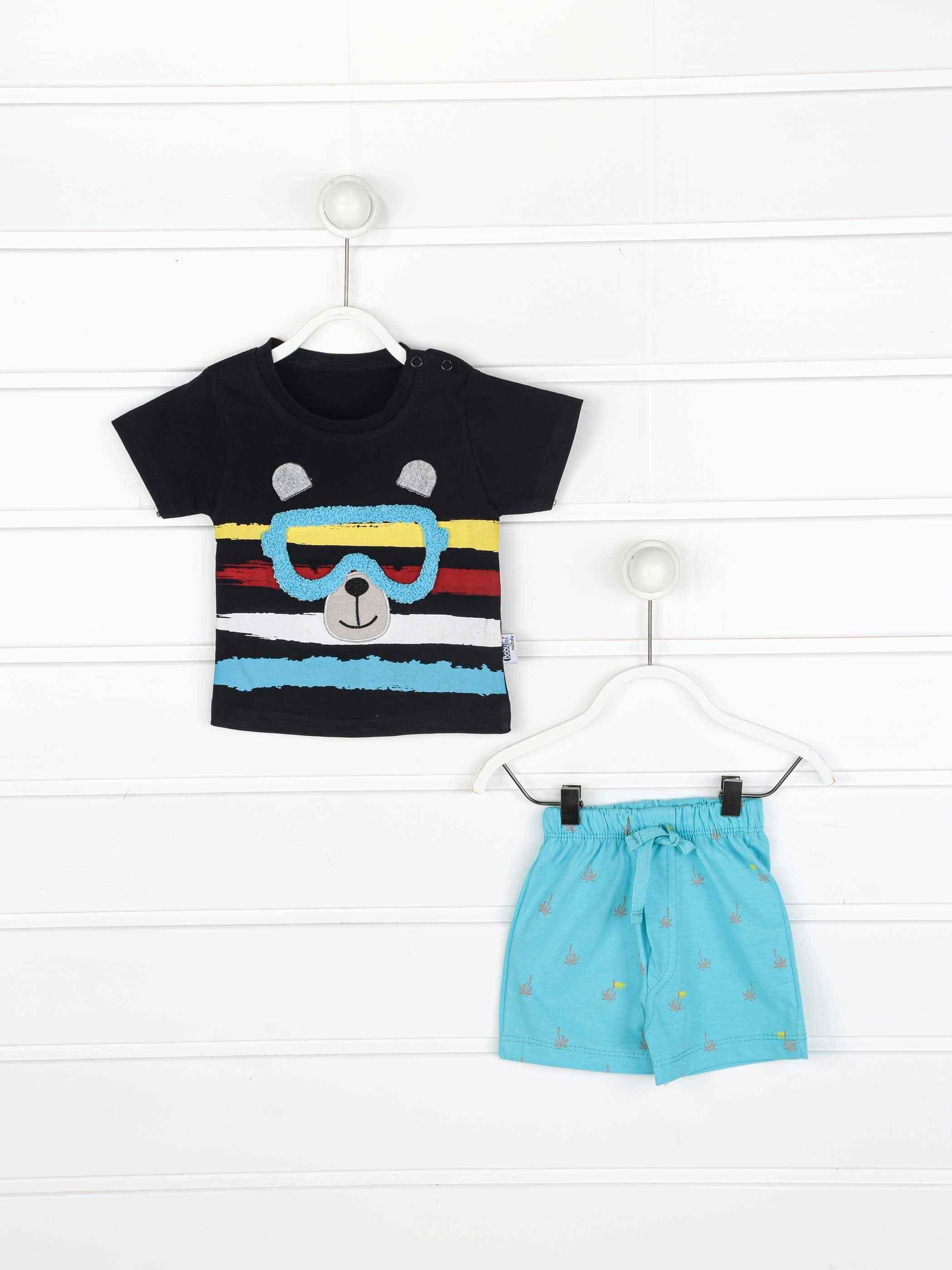 เด็กทารกเด็กทารก 2 ชิ้นกางเกงขาสั้นเสื้อยืดชุดลำลองเสื้อผ้าผ้าฝ้ายทุกวันฤดูร้อนทารกชุดรุ่น