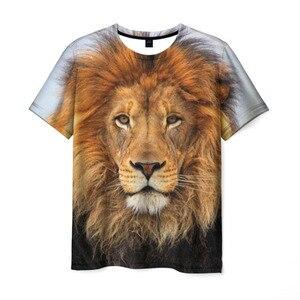 Men's T-shirt 3D handsome Lion