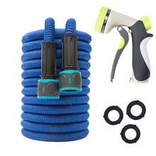 25FT-100FT Magic Hose Multi-functional Garden Hose Expandable Flexible Water Hose Pipe with Spray Gun,Natural Rubber