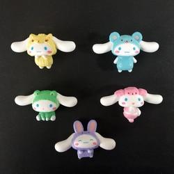 5 개/대 귀여운 Cinnamoroll 비옷 액션 그림 장난감을 입고 Kawaii BabyCinnamoroll DIY 케이크 장식 인형 여자를위한 선물